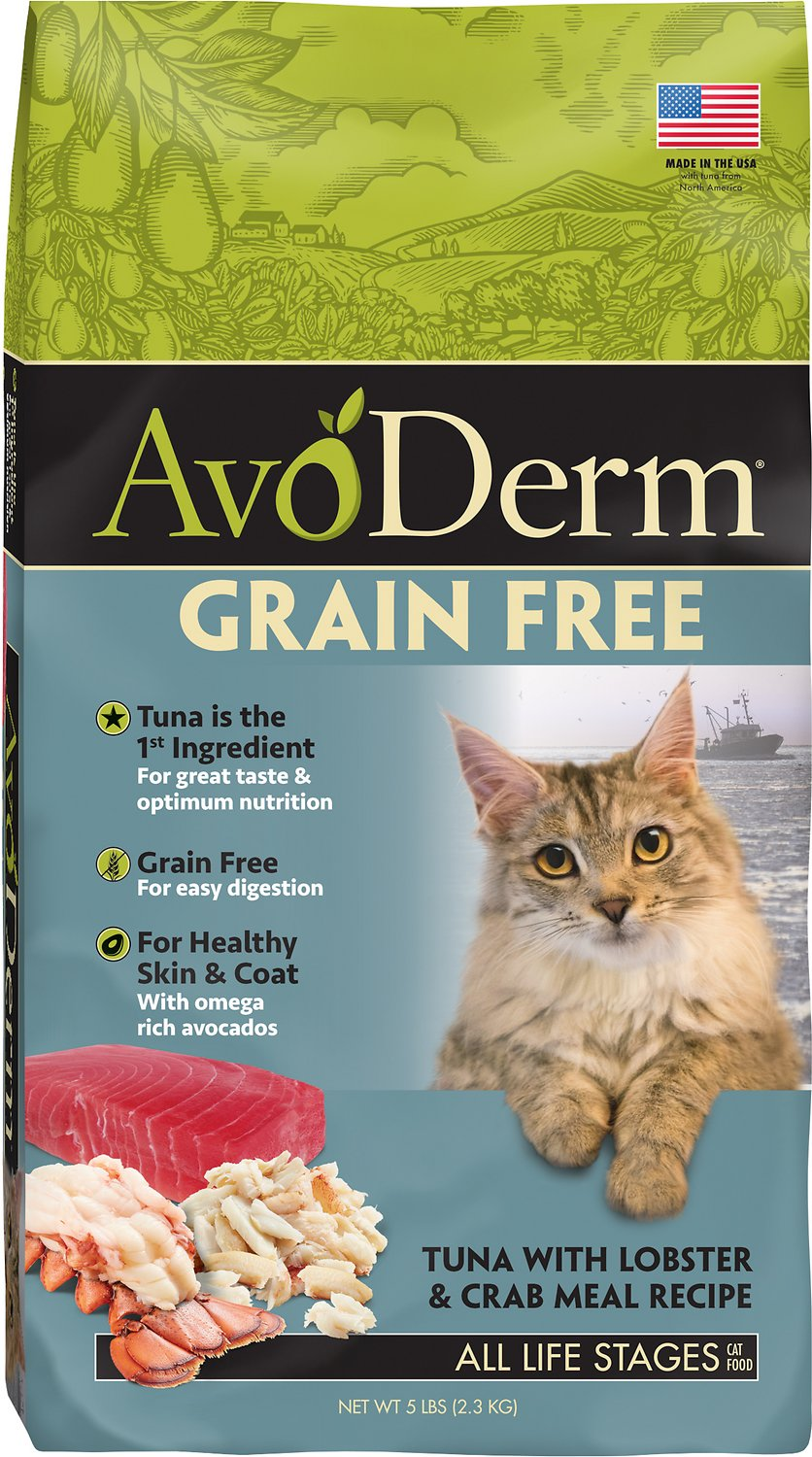 AvoDerm Grain-Free Tuna with Lobster & Crab Meal Dry Cat Food, 5-lb
