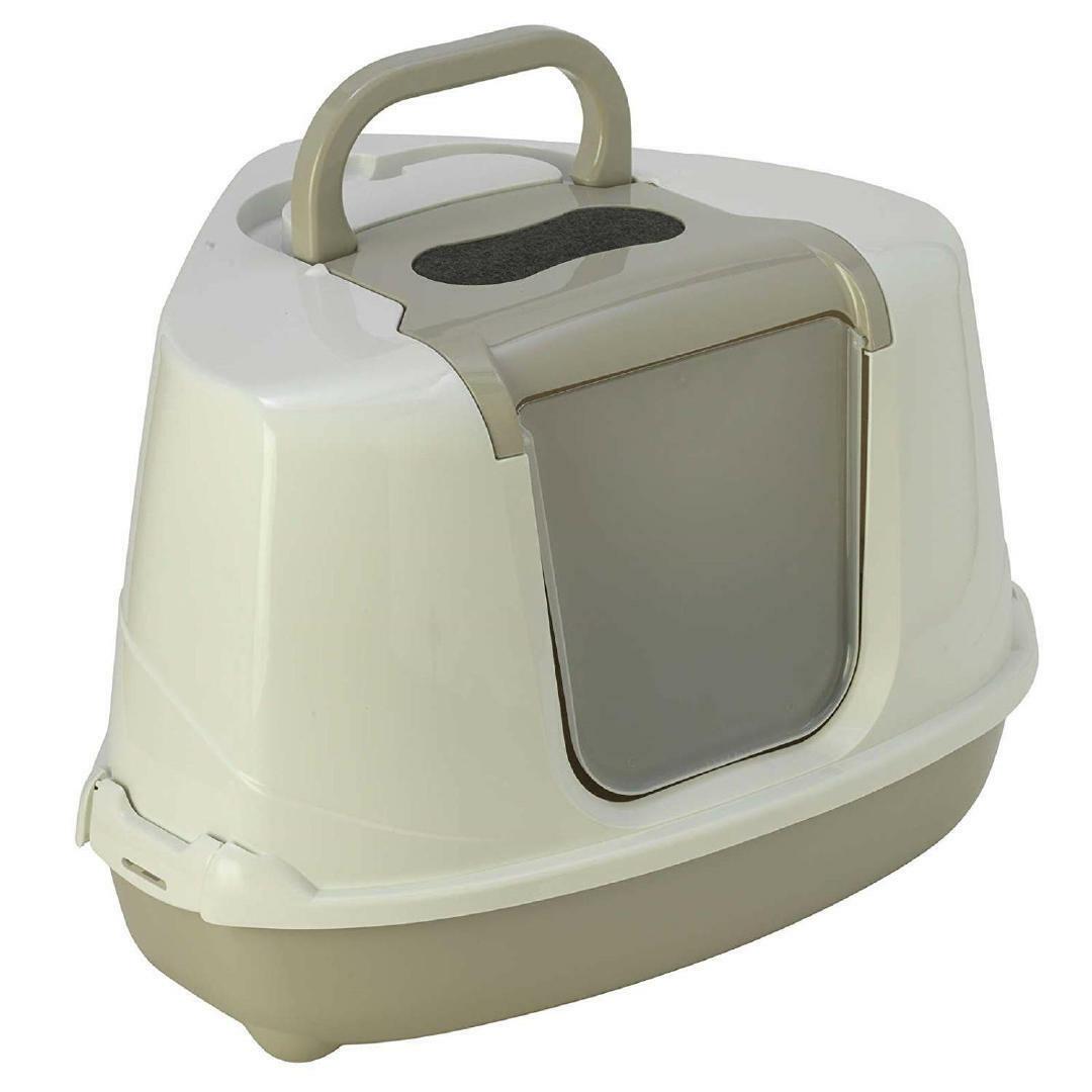Moderna Flip Corner Cat Litter Box, Grey