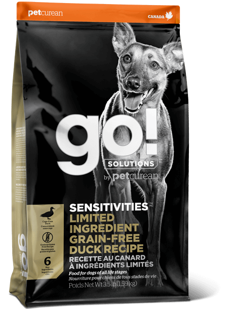 Petcurean Dog Go! Solutions Sensitivities Limited Ingredient Duck Recipe Grain-Free Dry Dog Food, 22-lb