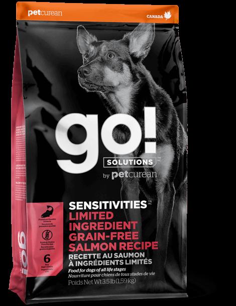 Petcurean Dog Go!Solutions Sensitivities Limited Ingredient Salmon Recipe Grain-Free Dry Dog Food, 22-lb