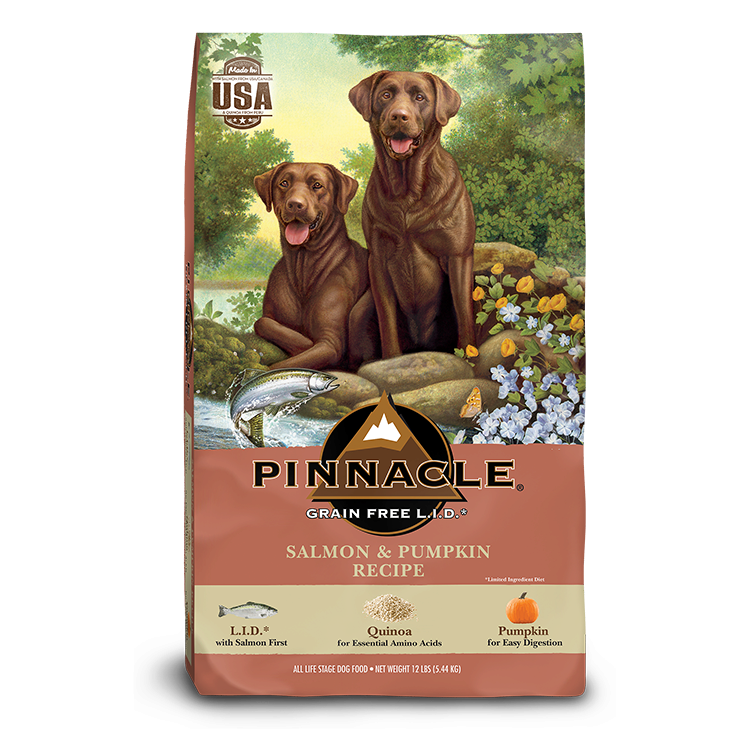 Pinnacle Salmon & Pumpkin Recipe Limited Ingredient Grain-Free Dry Dog Food, 24-lb