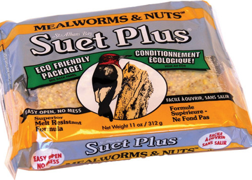 Wildlife Sciences Suet Plus Mealworms & Nuts Wild Bird Food, 11-oz