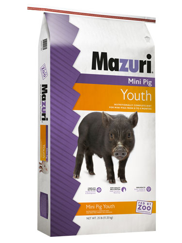 Mazuri Mini Pig Youth Pig Food, 25-lb