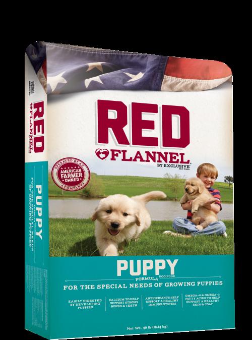 PMI Nutrition Red Flannel Puppy Formula Dry Dog Food, 40-lb