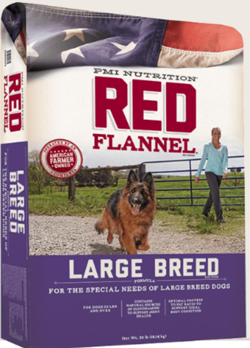 Red Flannel Large Breed Formula Dry Dog Food, 50-lb