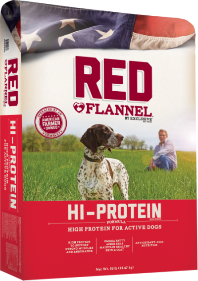 Red Flannel Hi-Protein Formula Dry Dog Food, 50-lb