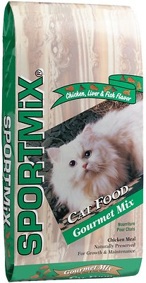 SPORTMiX Gourmet Mix with Chicken, Liver and Fish Flavor Adult Dry Cat Food