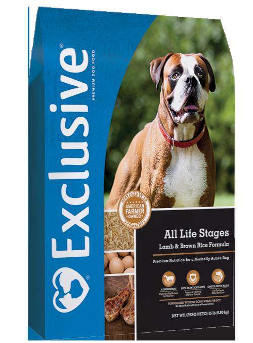 Exclusive Lamb & Brown Rice Formula Dry Dog Food, 5-lb