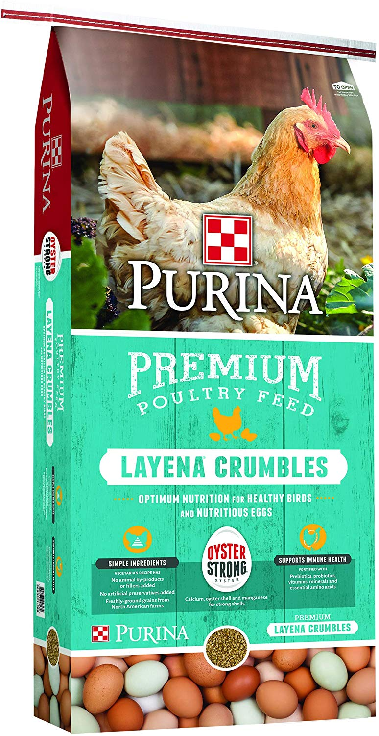 Purina Premium Layena Crumbles Poultry Feed, 50-lb