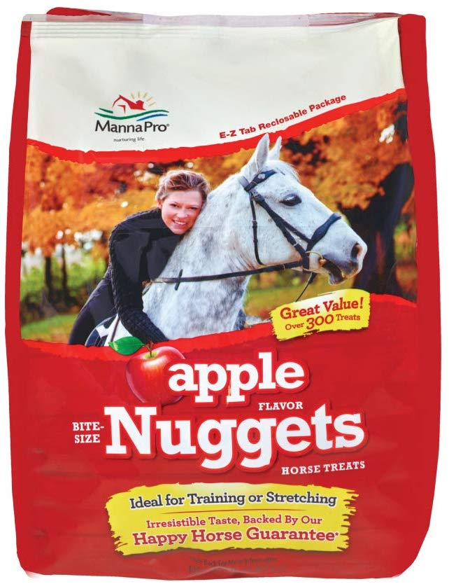 Manna Pro Apple Flavored Nuggets Horse Treats, 4-lb