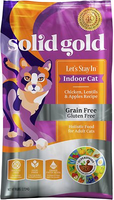 Solid Gold Let's Stay In Indoor Chicken, Lentil & Apple Recipe Adult Grain-Free Dry Cat Food