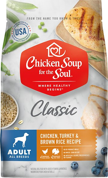 Chicken Soup for the Soul Chicken, Turkey, & Brown Rice Recipe Dry Dog Food, 13.5-lb