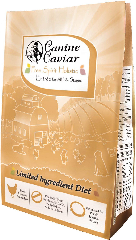 Canine Caviar Limited Ingredient Diet Free Spirit Holistic Entrée All Life Stages Dry Dog Food, 24-lb bag