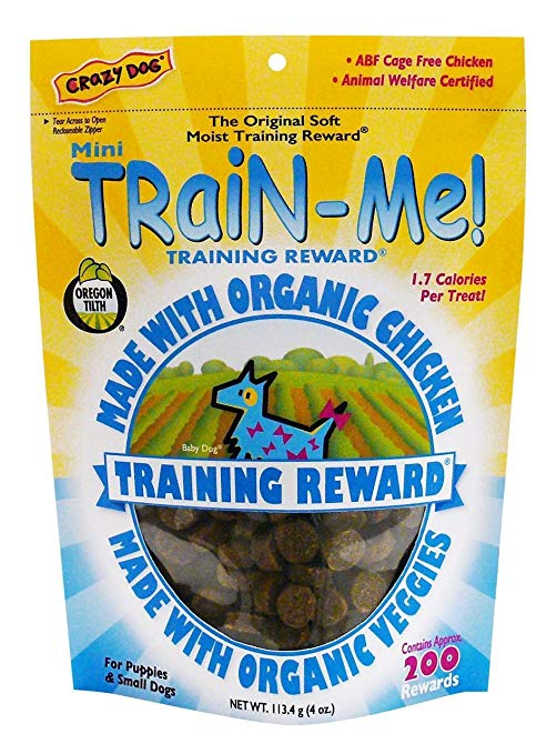 Crazy Dog Mini Train-Me! Chicken Flavored Dog Treats, 4-oz
