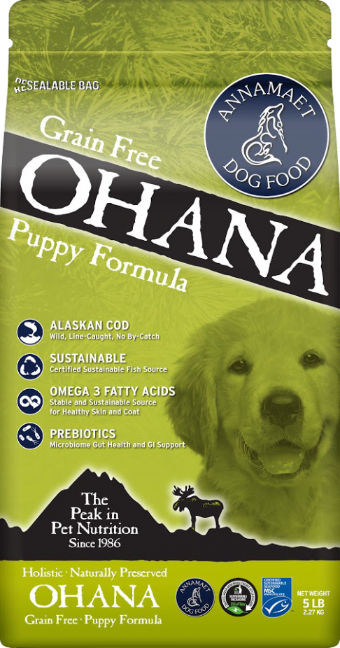 Annamaet Ohana Puppy Formula with Alaskan Cod Grain-Free Dry Dog Food, 5-lb bag