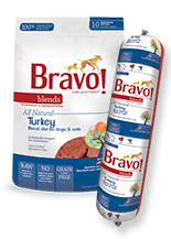 BRAVO Balance Turkey Chub Roll Raw Frozen Dog Food, 5lbs