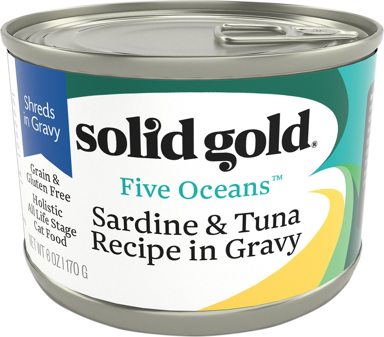 Solid Gold Five Oceans' Sardines & Tuna Recipe in Gravy Grain-Free Canned Cat Food
