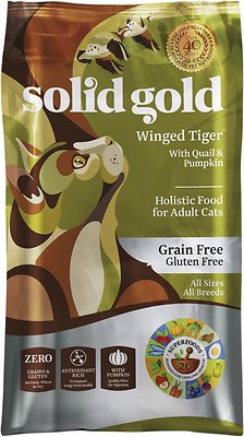 Solid Gold Winged Tiger with Quail & Pumpkin Grain-Free Adult Dry Cat Food, 6-lb bag