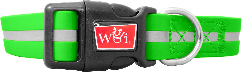 Wigzi Waterproof Dog Collar, Green, Medium