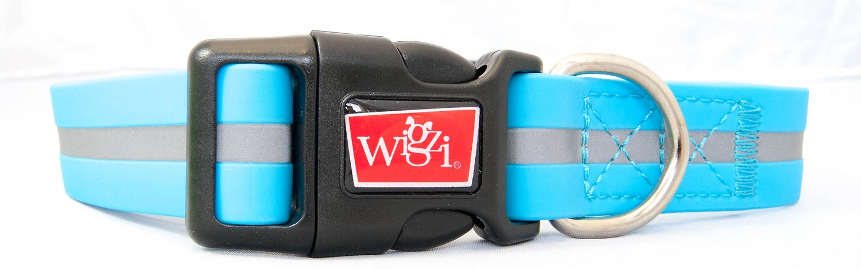 Wigzi Waterproof Dog Collar, Blue, Large