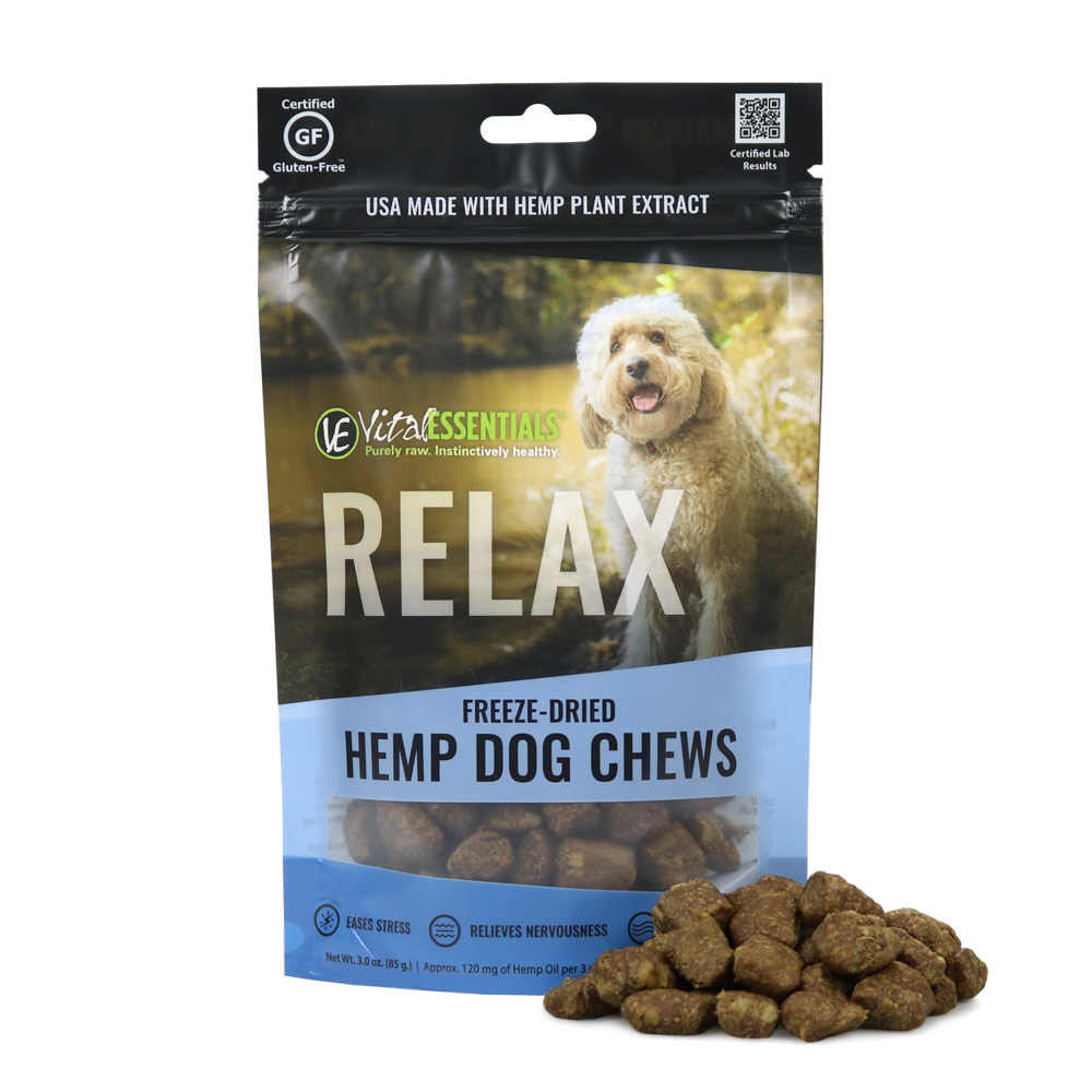 Vital Essentials RELAX Custom Spectrum Chew for Dogs, 3-oz