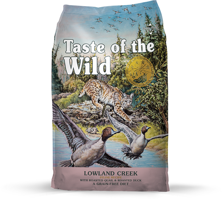Taste Of The Wild Lowland Creek Grain-Free Dry Cat Food, 14-lb