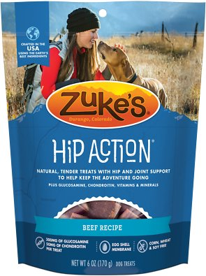 Zuke's Hip Action Beef Recipe Dog Treats Weights: 6 ounces, Size: 6-oz bag