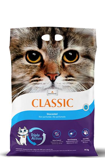 Intersand Classic Unscented Cat Litter, 30-lb