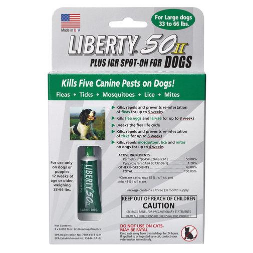 Liberty 50 II Plus IGR Spot-On for Dogs, 33-66-lbs