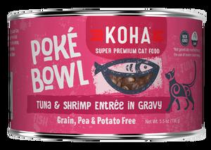 Koha Poke Bowl Tuna & Shrimp Entrée in Gravy Wet Cat Food, 5.5-oz