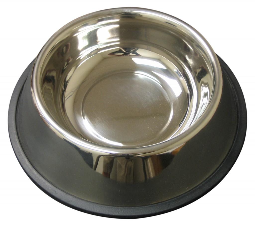 QT Dog Stainless Steel Non-Tip Anti-Skid Dog Bowl, 1.5-qt