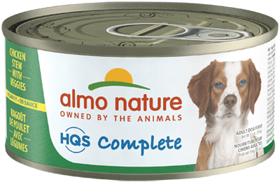 Almo Nature HQS Complete Chicken Stew with Veggies Canned Dog Food, 5.5-oz