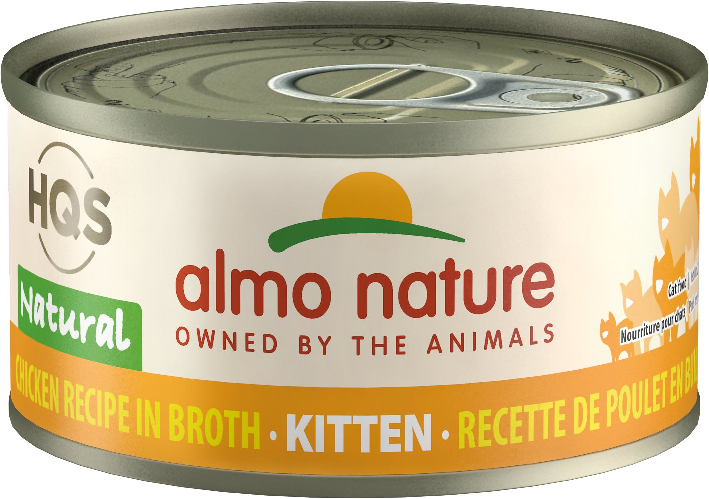 Almo Nature HQS Natural Chicken Recipe Kitten Canned Cat Food, 2.47-oz