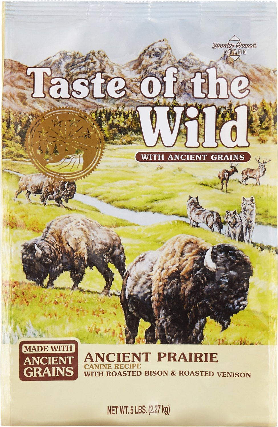 Taste of the Wild Ancient Prairie with Ancient Grains Dry Dog Food, 5-lb