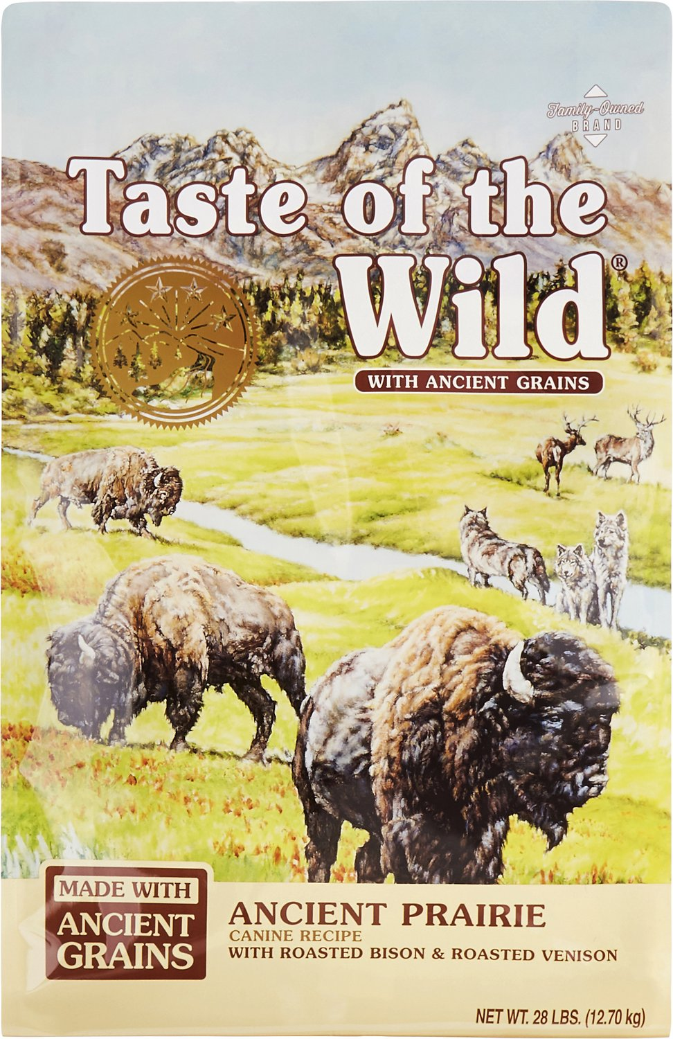 Taste of the Wild Ancient Prairie with Ancient Grains Dry Dog Food, 28-lb