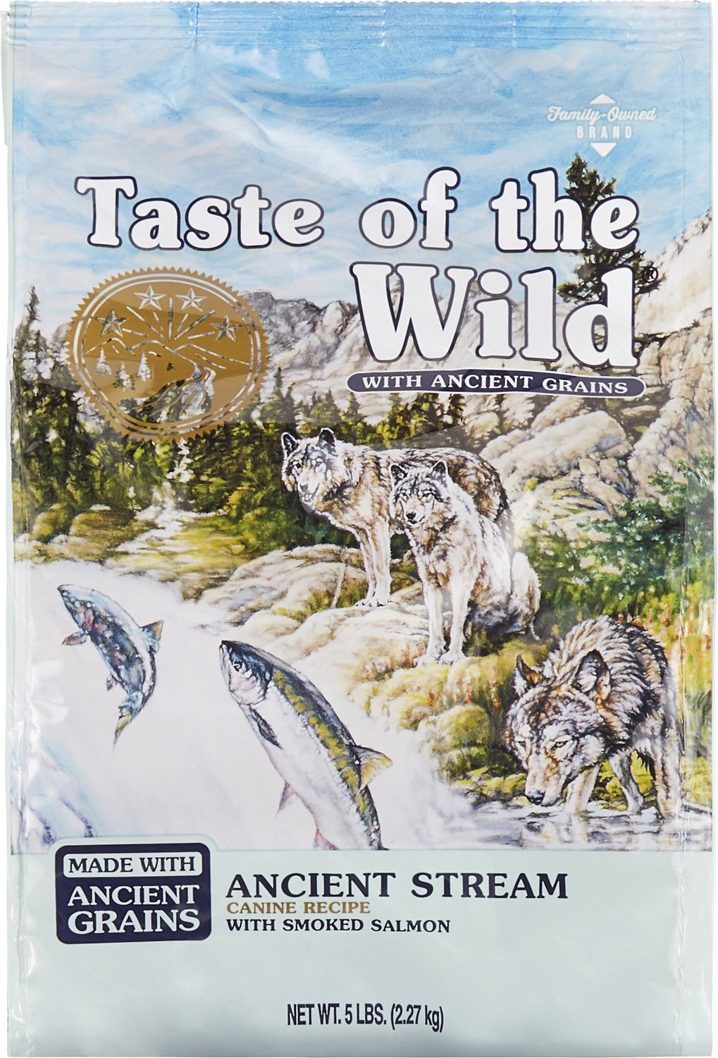 Taste of the Wild Ancient Stream with Ancient Grains Dry Dog Food, 5-lb