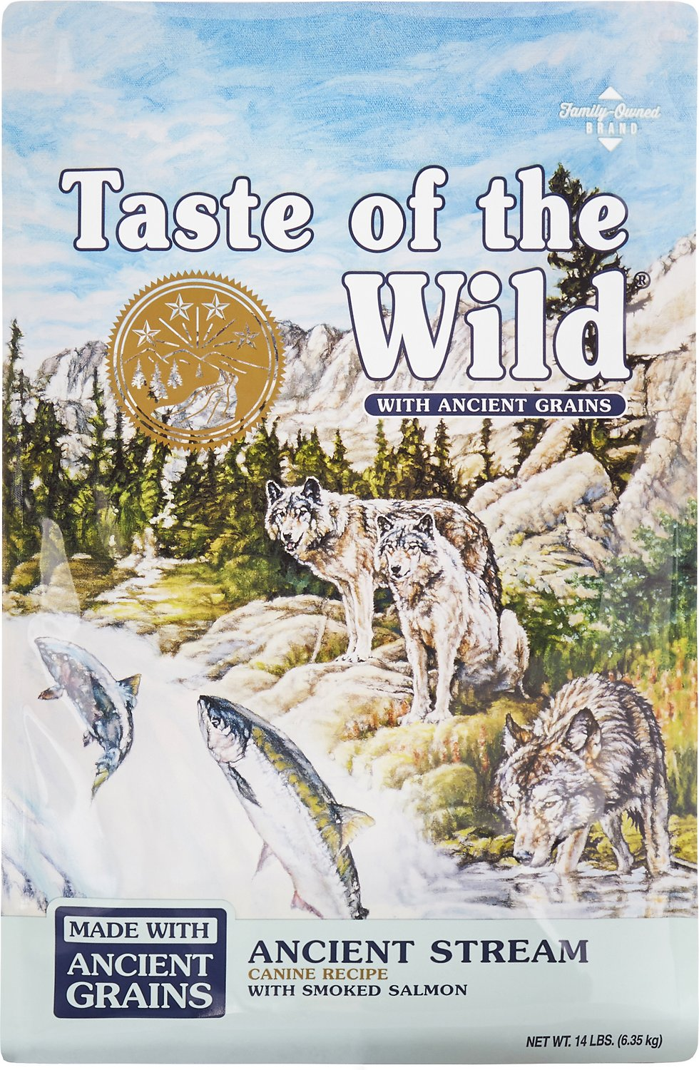 Taste of the Wild Ancient Stream with Ancient Grains Dry Dog Food, 14-lb