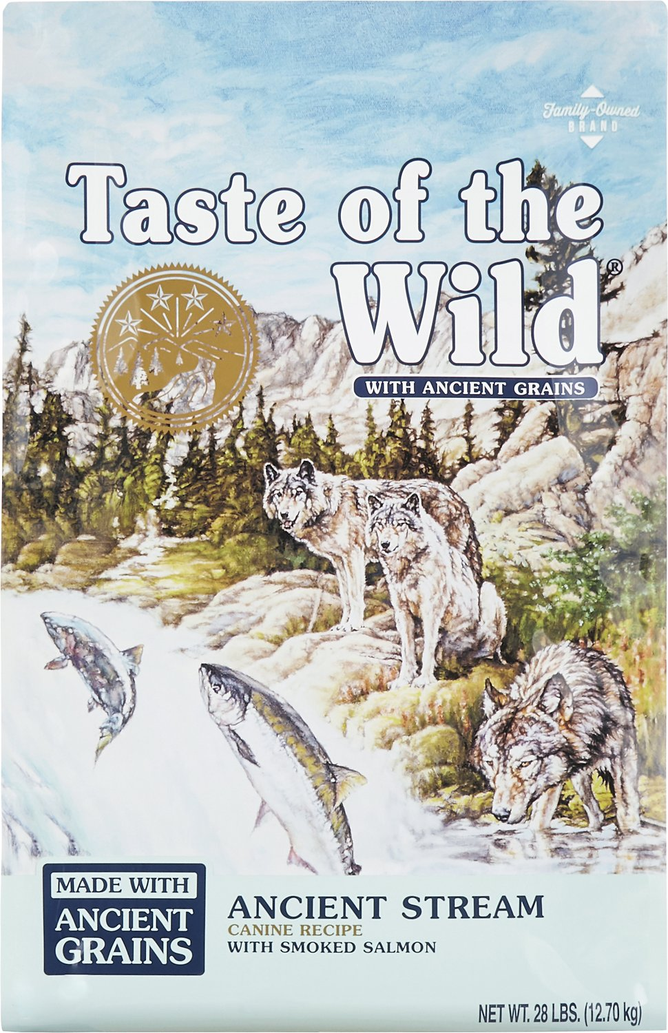 Taste of the Wild Ancient Stream with Ancient Grains Dry Dog Food, 28-lb Size: 28-lb