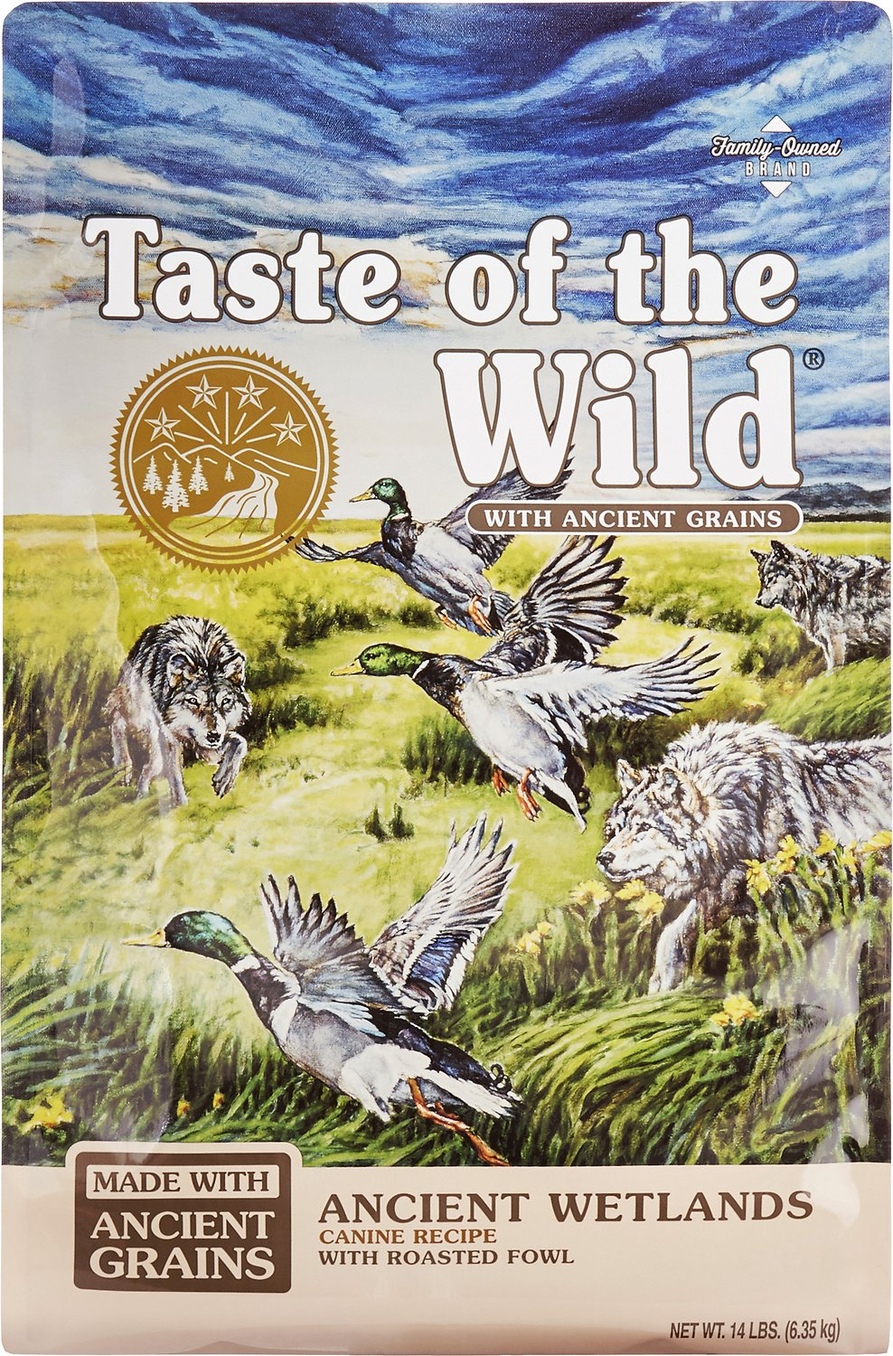 Taste of the Wild Ancient Wetlands with Ancient Grains Dry Dog Food, 14-lb