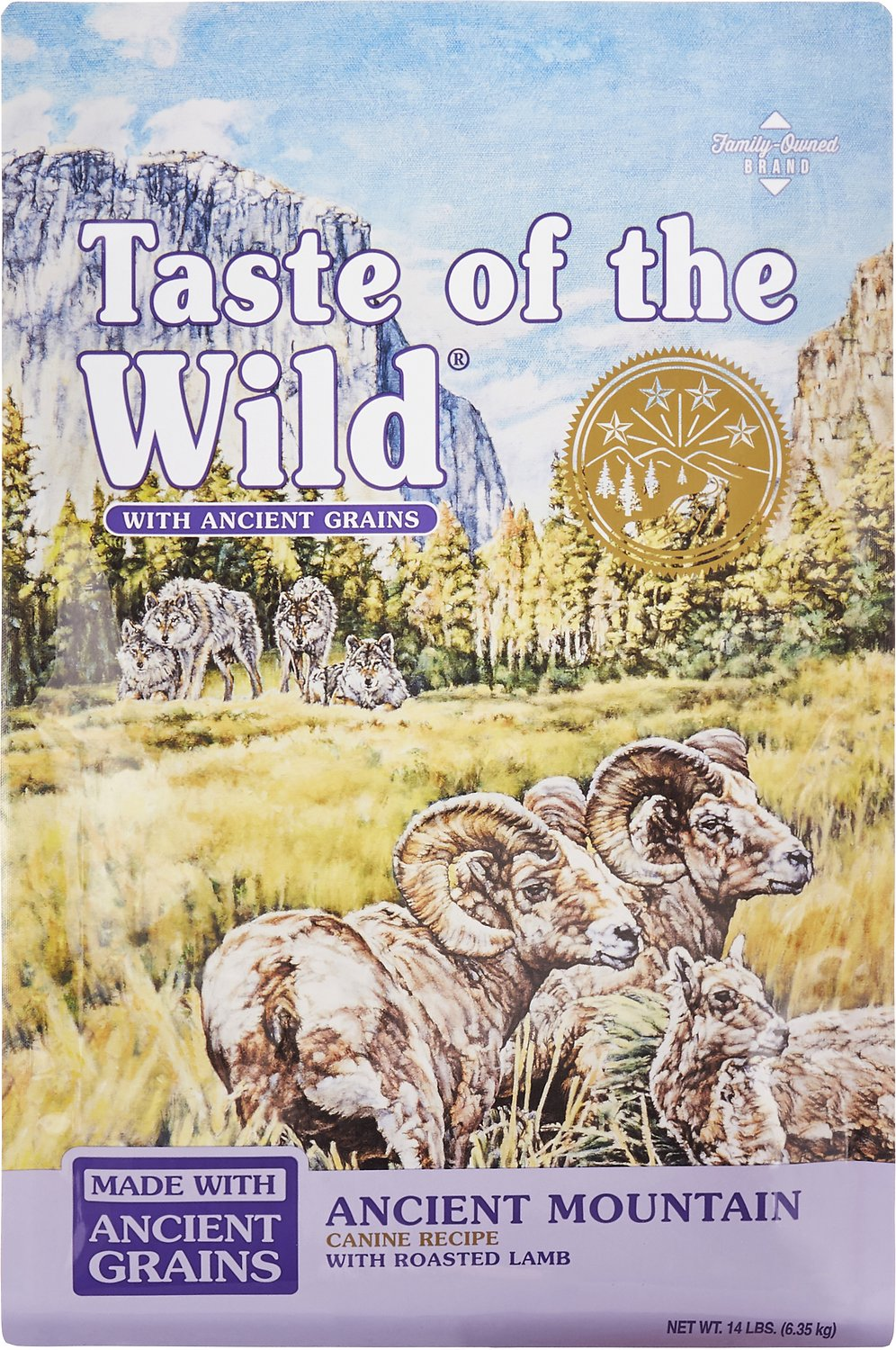 Taste of the Wild Ancient Mountain with Ancient Grains Dry Dog Food, 14-lb