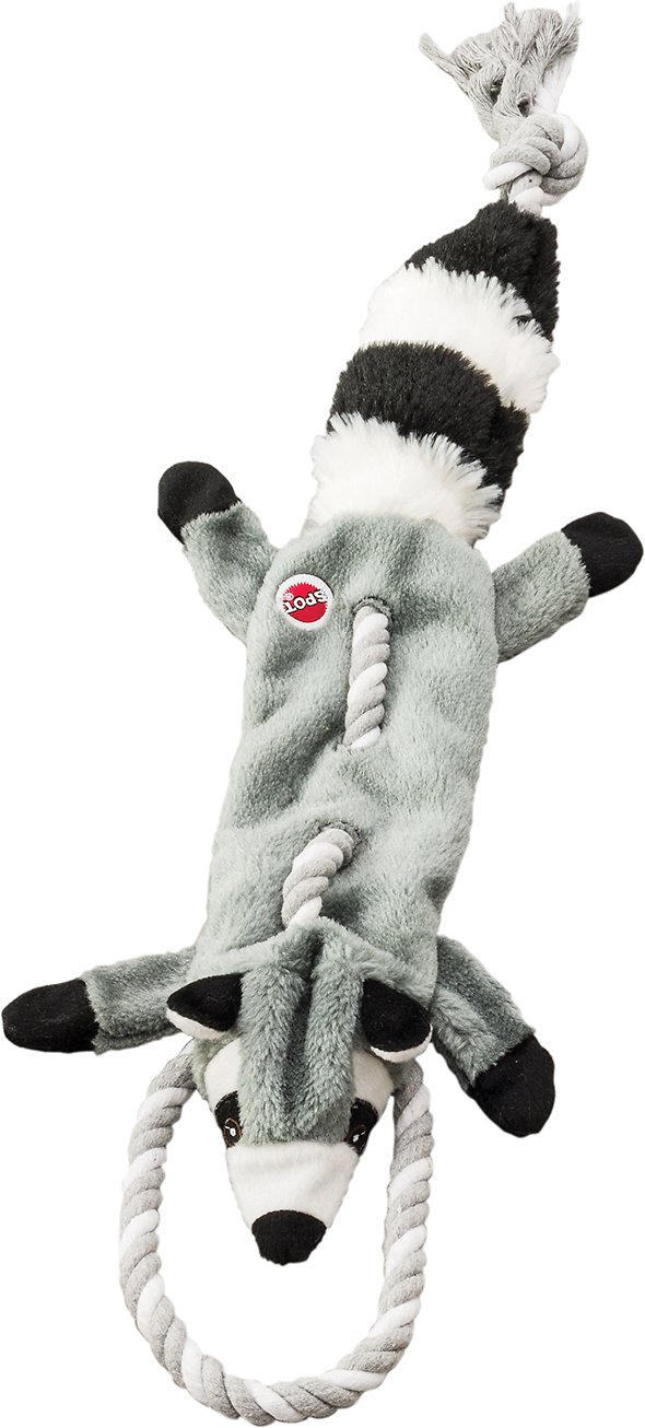 Ethical Pet Mini Skinneeez Tugs Raccoon Dog Toy, 14-in