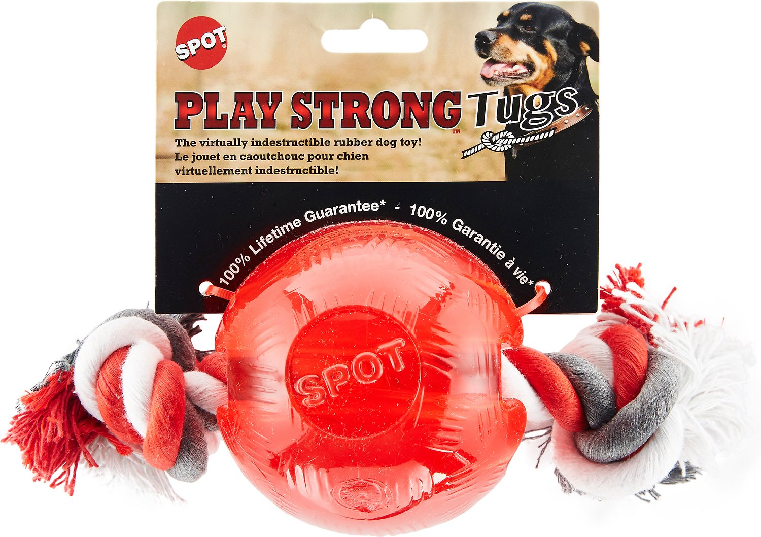 Ethical Pet Play Strong Ball & Rope Dog Toy Image