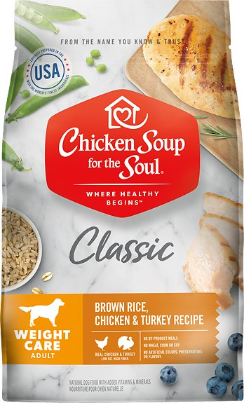 Chicken Soup for the Soul Adult Weight Care Brown Rice, Chicken & Turkey Recipe Dry Dog Food, 28-lb