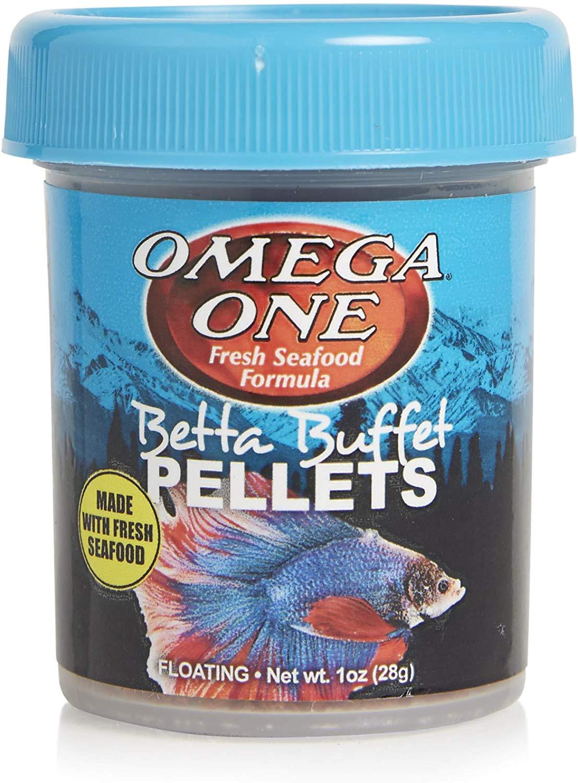 Omega One Betta Buffet Pellets Fish Food, 1-oz