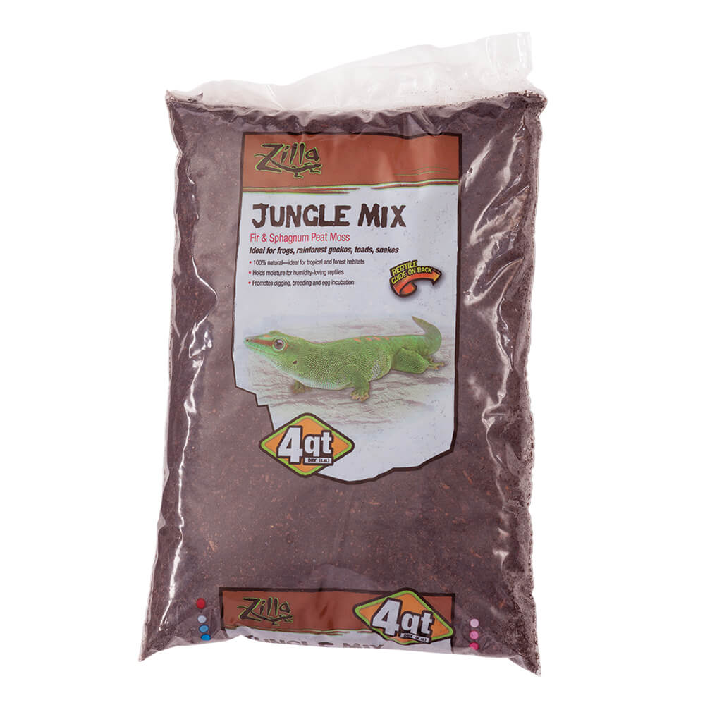 Zilla Jungle Mix Reptile Bedding, 4-qt