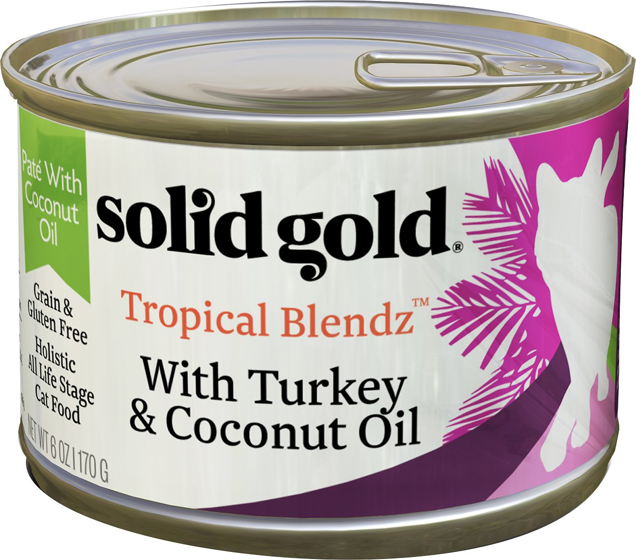 Solid Gold Tropical Blendz with Turkey & Coconut Oil Pate Grain-Free Canned Cat Food