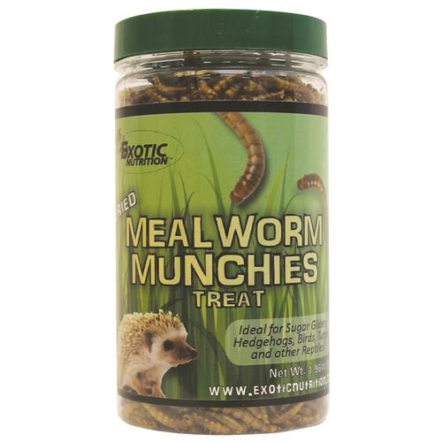 Exotic Nutrition Mealworm Munchies Small Animal Treats, 1.9-oz