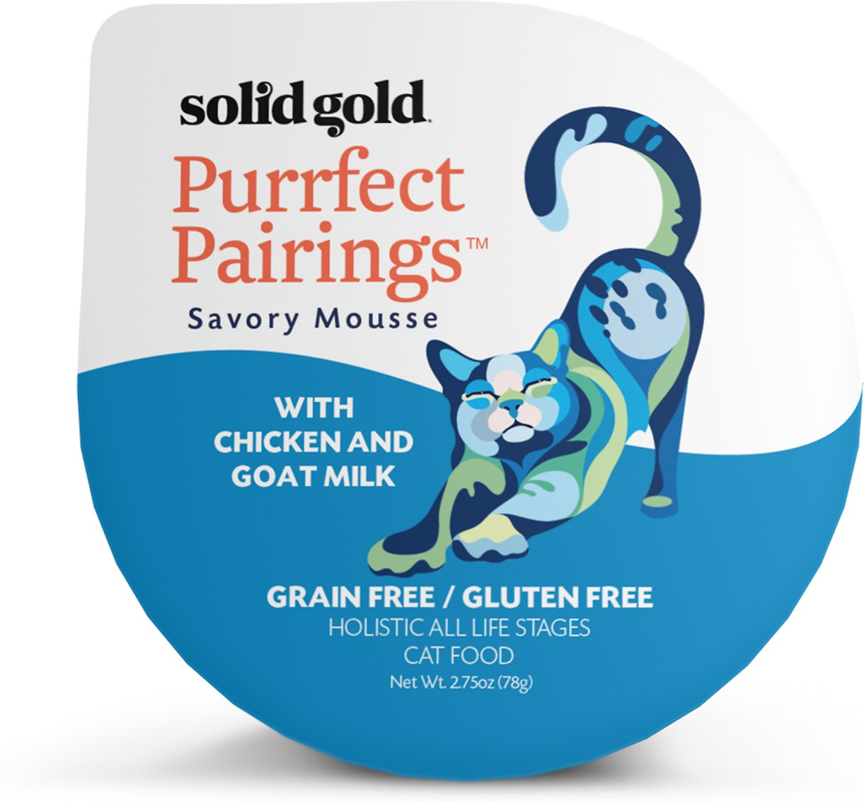 Solid Gold Purrfect Pairings Savory Mousse with Chicken & Goat Milk Grain-Free Cat Food Cups, 2.75-oz