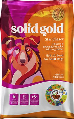 Solid Gold Star Chaser Chicken & Brown Rice with Vegetables Adult Dry Dog Food, 4-lb bag