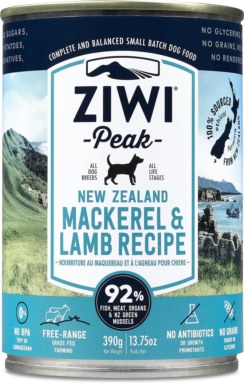 Ziwi Dog Peak Mackerel & Lamb Recipe Canned Dog Food, 13.75-oz